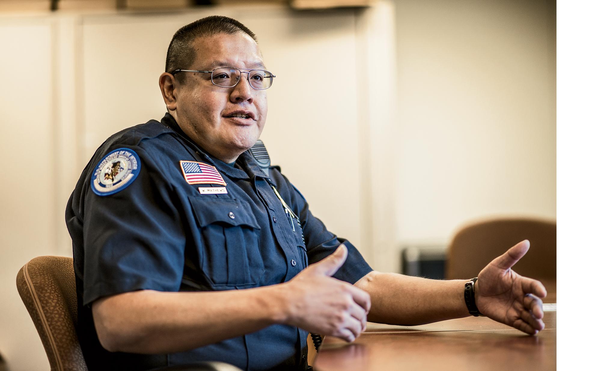 William Matthews, BIA police chief